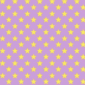 Large Stars on Pale Purple Background