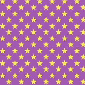 Large Stars on Light Purple Background