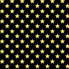 Large Yellow Stars on Black Background