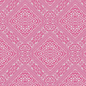 Pink and Cream Modern Tile