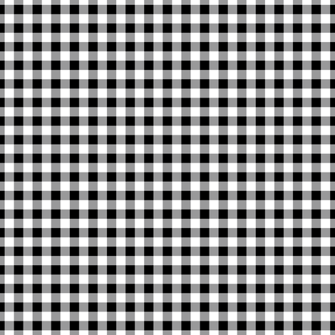 Gingham ~ Black and White and Grey All Over ~ Small fabric by peacoquettedesigns on Spoonflower - custom fabric