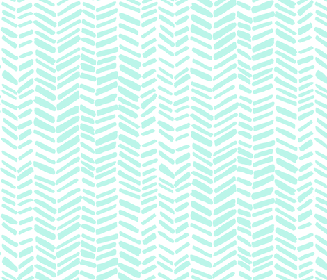 Impression White/Mint fabric by leanne on Spoonflower - custom fabric