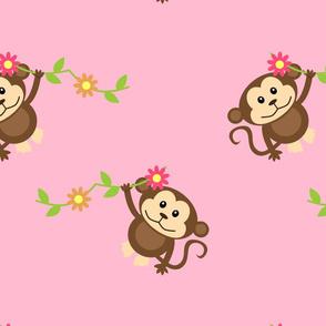 Pink Monkey Pattern