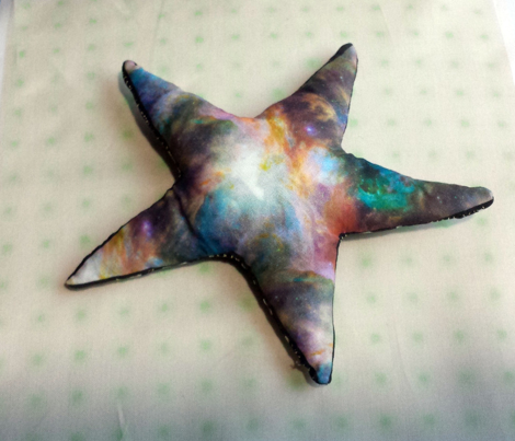 Galaxy Starburst Stuffie, DIY Cut and Sew Pillow Project