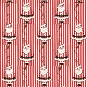 Santa Hat Stripes red n white