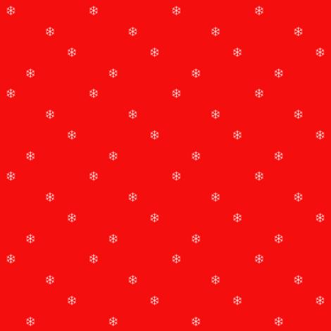 Red_Snowflake_2_x_2 fabric by kickyc on Spoonflower - custom fabric