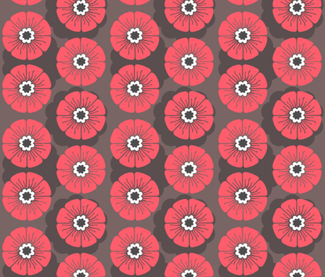 Laecker Rose Noir fabric by brainsarepretty on Spoonflower - custom fabric