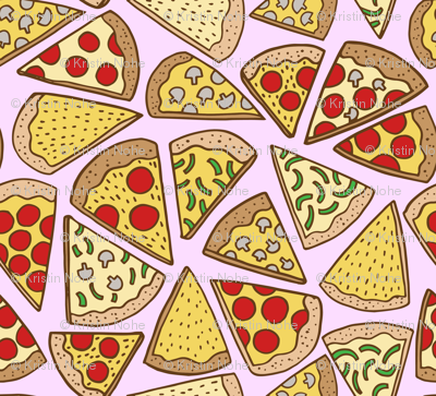 pizza party - pink