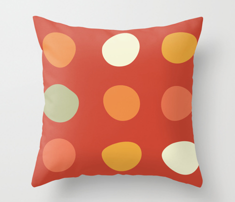 Large Dots- tomato red