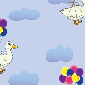The pekin duck that found a way to fly- baloons