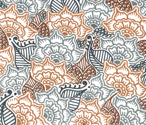 La Tierra fabric by henna_by_hilary on Spoonflower - custom fabric