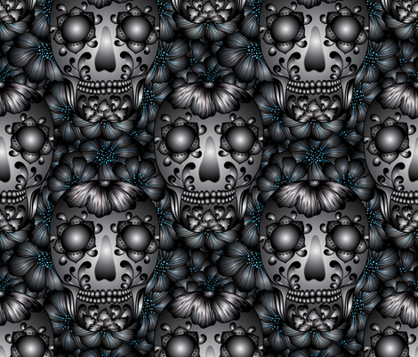 Honoring the Dead fabric by vo_aka_virginiao on Spoonflower - custom fabric