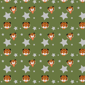 Tigers and stars green