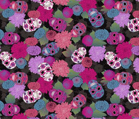 Día de los Muertos fabric by kociara on Spoonflower - custom fabric