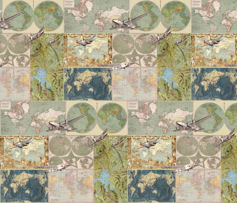 Flight Patterns  fabric by aftermyart on Spoonflower - custom fabric