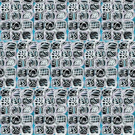 """Encased in Blue"" fabric by elizabethvitale on Spoonflower - custom fabric"