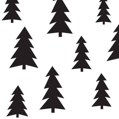 forest tree simple - elvelyckan design  fabric by elvelyckan on Spoonflower - custom fabric