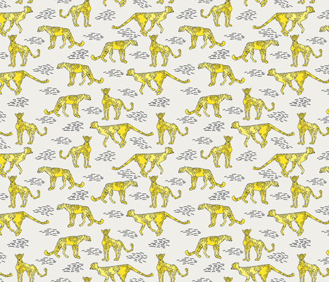 cheetah_bright fabric by holli_zollinger on Spoonflower - custom fabric