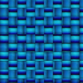 Blue Basketweave