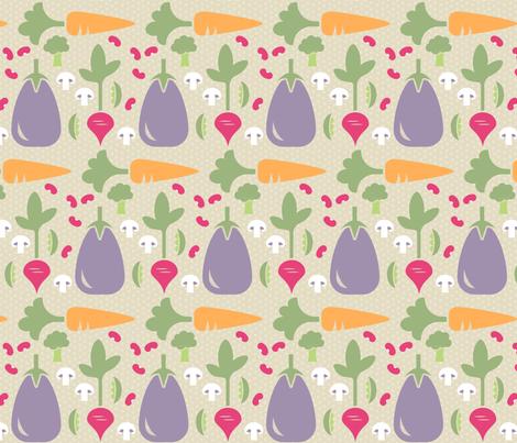 Vegetable Medley fabric by designedbygeeks on Spoonflower - custom fabric