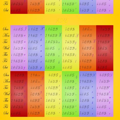 2015_calendar_spoonflower2_10_19_2014 fabric by compugraphd on Spoonflower - custom fabric