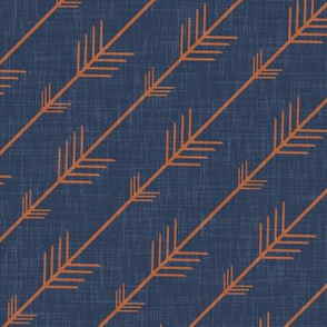 Flying arrows in Navy and Orange