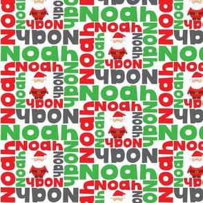 Christmas personalised name design - spiral