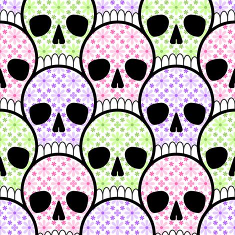 skull pile 3 fabric by sef on Spoonflower - custom fabric