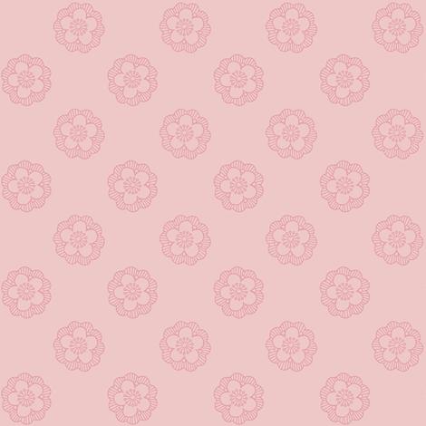 sakura in hyacinth pink fabric by weavingmajor on Spoonflower - custom fabric