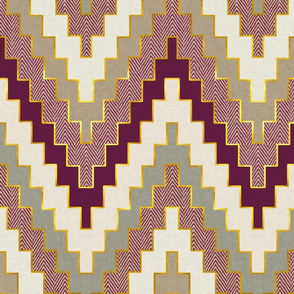 Luxe Chevron in Plum Harvest