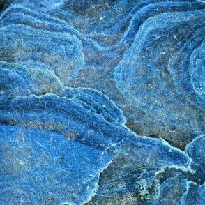 Blue Stone Swirls