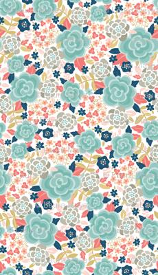 Pretty Floral Blue