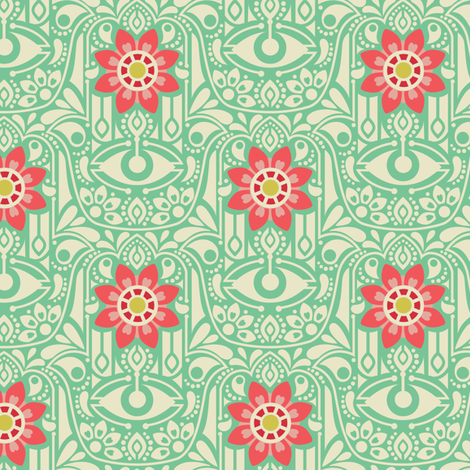 Hamsa fabric by laura_mayes on Spoonflower - custom fabric