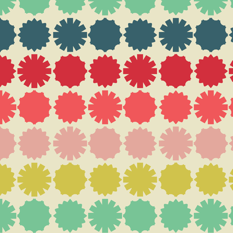 Colorful Graphic Circles fabric by laura_mayes on Spoonflower - custom fabric