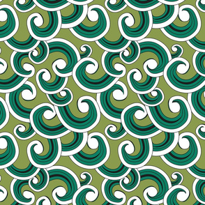 Waves sea green
