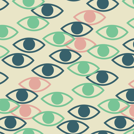 Eyes fabric by laura_mayes on Spoonflower - custom fabric