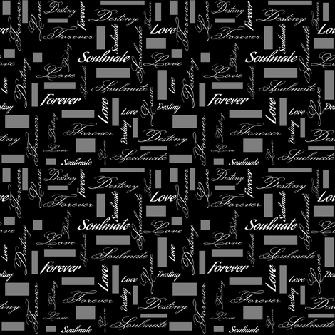 Soulmate Calligraphy fabric by rhyannon on Spoonflower - custom fabric