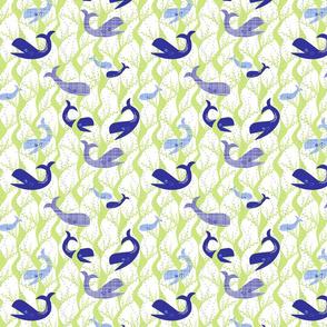 whale play - blue