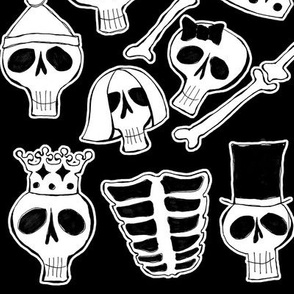 Skulls and skeletons