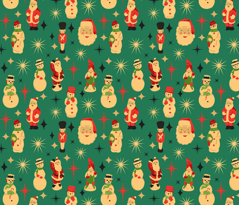 Vintage Blow Molds fabric by heidikenney on Spoonflower - custom fabric
