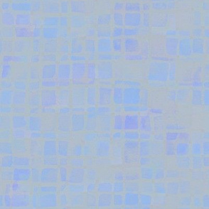double tiles in iridescent blue