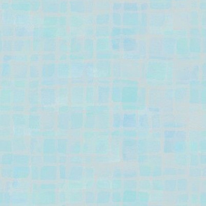 double tiles in iridescent aqua