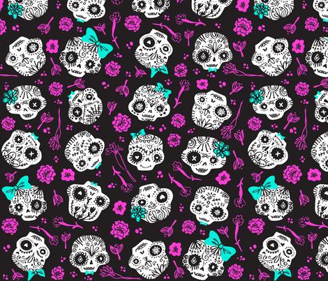 Dia De Los  Muertos - Custom Colors fabric by tonia_dee on Spoonflower - custom fabric