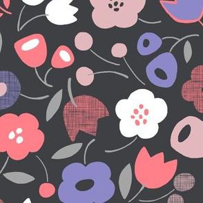 Flower Shower Gray/Pink