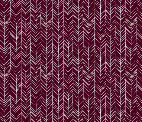 Featherland Burgundy/White fabric by leanne on Spoonflower - custom fabric