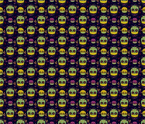 Calaveras Sugar Skull fabric by paperondesign on Spoonflower - custom fabric