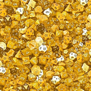 a sea of gold dice