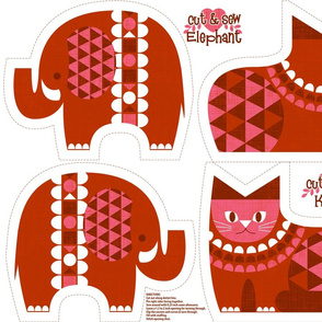 elephant kitty red