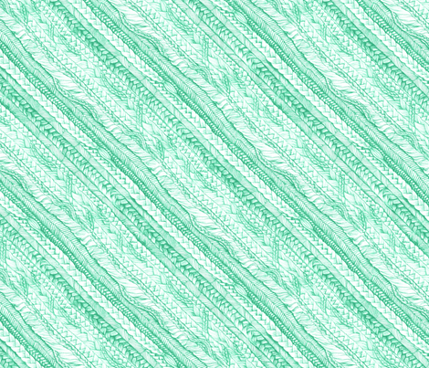 Braided_Mint, Bias fabric by thistleandfox on Spoonflower - custom fabric