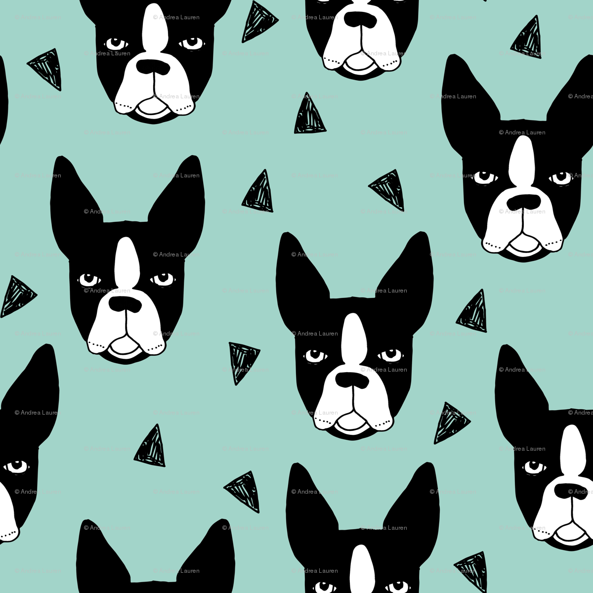 boston terrier mint boston terriers cute dog best dog fabric